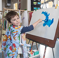 Progress Kinder Painting